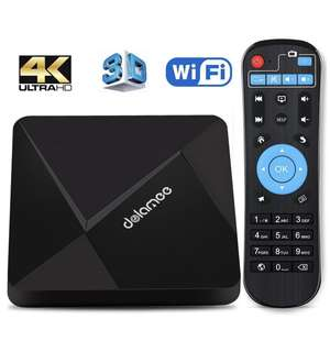 Android 6.0 TV Box, Dolamee D5 4K HD Smart Box All Included 1 year Subscription Smooth And No Lagging
