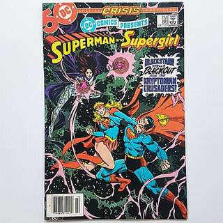 DC Comics Presents 86 Very Fine Condition Superman Supergirl