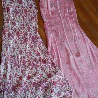 Silk dresses from Bali