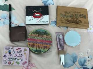Assorted high end + drugstore makeup
