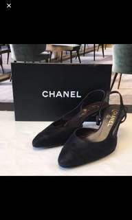 清貨全新 Chanel Satin Leather Sandals