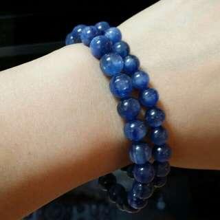 天然藍晶 晶石手串