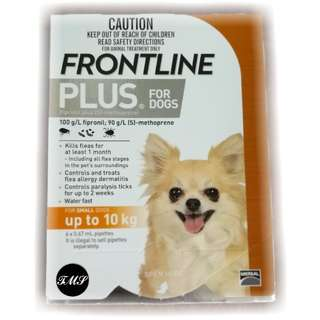 $9 Per Pip. Sold In Box Of 6. Frontline Plus For Small Dogs Up To 10 Kg. Authentic Local Stocks. Long Expiry. Free Local Mail.