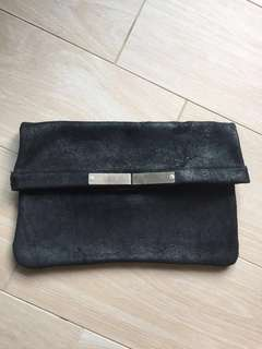 皮革袋leather clutch