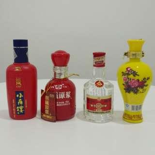 小酒版共四支(圖1分別係150ml,150ml,125ml,100ml)