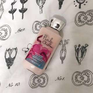 Bath And Body Works pink chiffon body moisturiser lotion