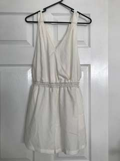Size 12 White Playsuit