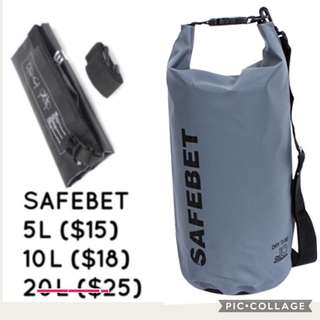 Safe bet -grey dry bag