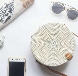 Pre-order round rattan bag from bali🌺