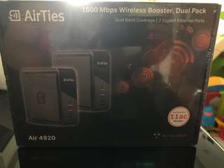 Brand new Airties 1600 maps wireless broadband booster,dual pack air 4920
