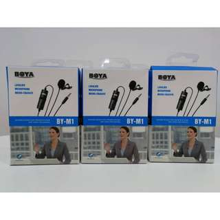 BOYA BY-M1 3.5 mm Lavalier Microphone for Smartphone and Canon/Nikon Camera