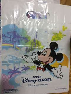 Tokyo Disney Land Mickey and Minnie Mouse plastic bag