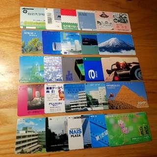 80年代日本Japan 儲蓄電話卡25枚廣告風景人物 包郵