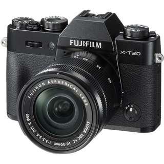 New Fujifilm X-T20 Mirrorless Camera + 16-50mm Kit Lens (Free 32GB Card)