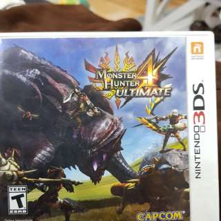 Monster Hunter 4 Ultimate 3DS cartridge Ori