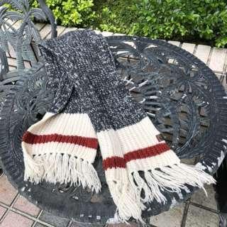 Roots羊毛超長圍巾