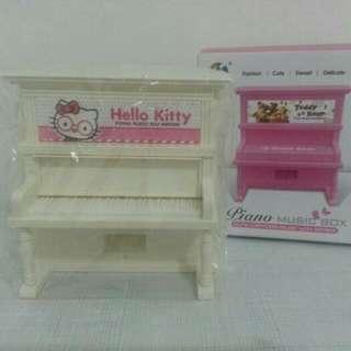 Piano music box hello kitty