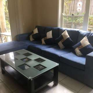 Beautiful Blue soft sofa