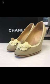 清貨Chanel Canvas High Heel