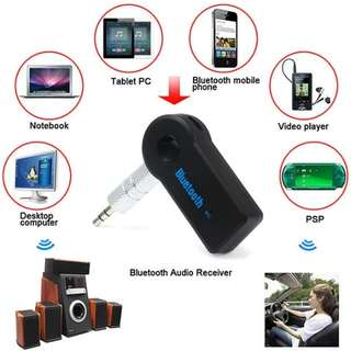 Bluetooth Receiver Car Kit Portable Wireless Audio Adapter 3.5mm Stereo For Home Audio Music Streaming Sound System Smartphone