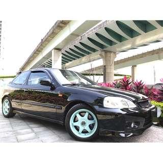 2000年HONDA K8 原廠手排 全車精品改裝改裝費用破2X萬 車況超好錯過可惜