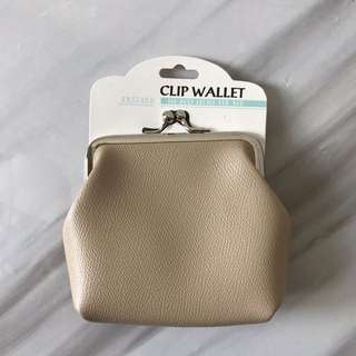 裸米色口金包/零錢包