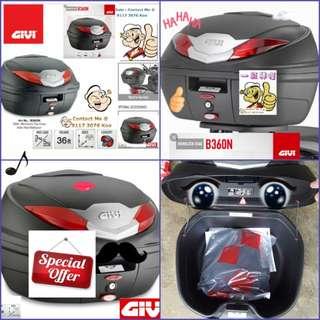 1703---GIVI BOX B360 nt WHITE Reflection For Sale !!!Brand New (YAMAHA, Honda, SUZUKI, ETC)