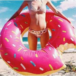 Discounted New Huge Inflatable Pool Swim Ring Pink 120cm