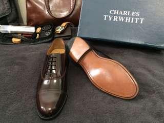 Charles Tyrwhitt Leather Oxford Cap Toe Dress Shoes for Men