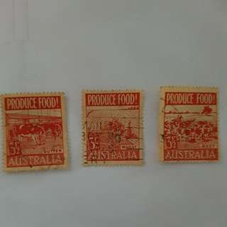 "*Rare* Australia ""Produce Food"" stamp series - 1953"