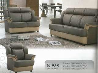 ansuran bulanan murah sofa set 1+2+3 model - N968
