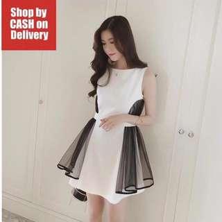 White lace wing dress