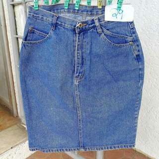 Size 31 Highwaist Knee Length Denim Skirt