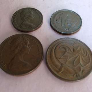 Australia old copper coins