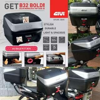 1703--- GIVI BOX B32 BOLD new model 😆😆😆 (YAMAHA SPARK,JUPITER, HONDA, SUZUKI)
