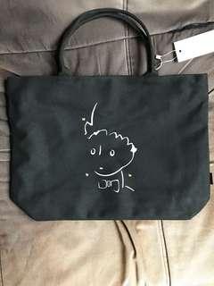 Little Prince Licensed Black Tote Bag