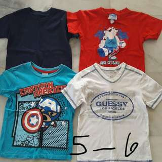 T-shirts for young boys