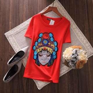 PO-BigHead shirt - red