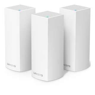 [IN-STOCK] Linksys Velop Tri-band Whole Home WiFi Mesh System, 3-Pack (coverage up to 6000 sq. ft), Router Replacement for Home Network, Works with Amazon Alexa