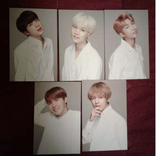 BTS VT PHOTOCARDS (WHITE VERSION) OFFICIAL