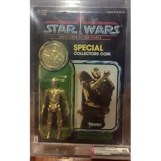 Rare Star wars Vintage POTF C-3PO with Removeable Limbs AFA 85