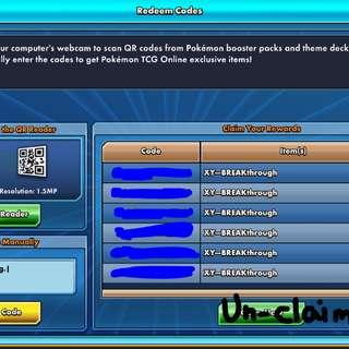 Pokemon online card codes and digital packs (Inclu. Ultra Prism set)