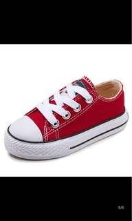 Korean Kids Shoes, red - pre ❤️