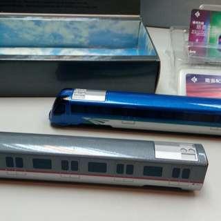 香港地鐵東湧及場機快綫車及紀念票