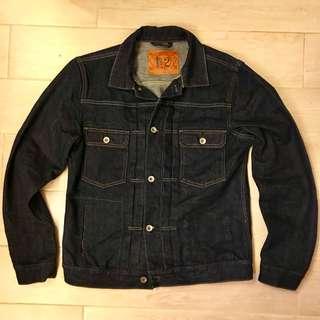 99% new Evisu denim Jean Jacket type 2  Size L slim fit