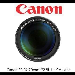 Canon EF 24-70mm F2.8 L ll USM Lens