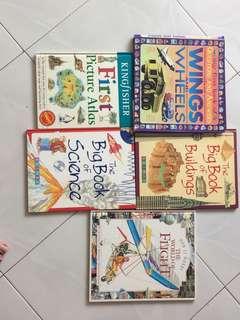 Assorted children's General knowledge books