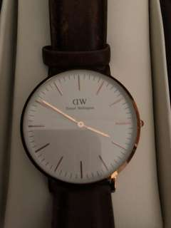 DW 手錶 真皮帶款