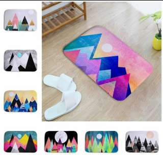 Abstract Floor mat/rugs
