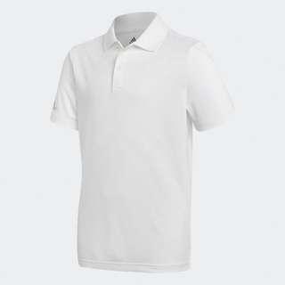 kids white adidas polo shirt
